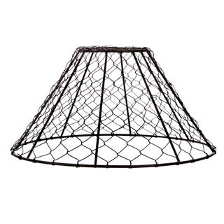 Chicken Wire Pendant Light Shade: Black, 12 x 6 inches