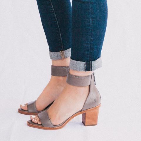 Frye Brielle Back Zip Sandal   Ankle
