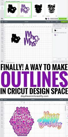 How to use the Offset Tool in Cricut Design Space | Make Outlines & Shadows