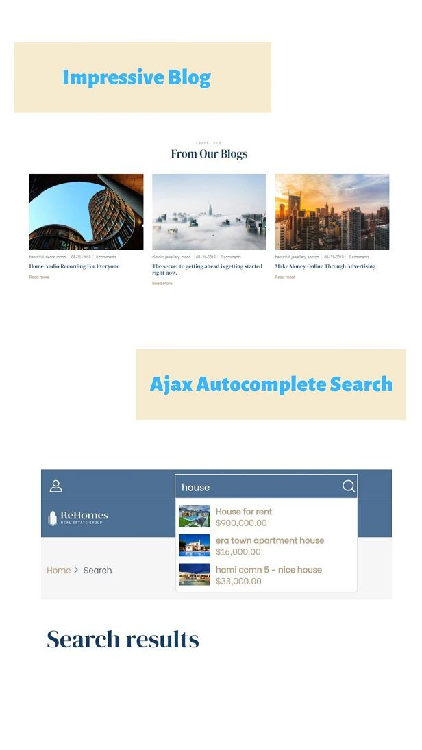 Rehomes-Real Estate And Homes Free Shopify Theme
