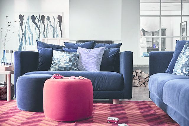 Get Excited For IKEAu0027s New STOCKHOLM Collection. Blue OttomanLiving Room  IdeasLiving ...