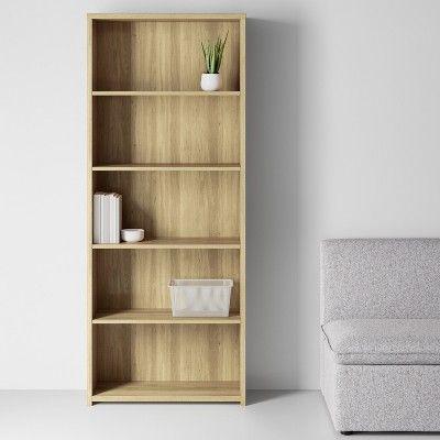 5 Shelf Bookcase Natural Made By Design In 2020 5 Shelf
