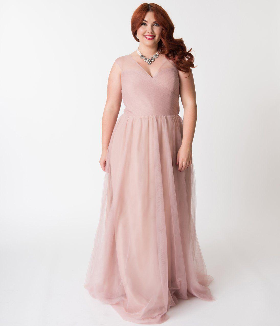 plus size blush dresses for wedding