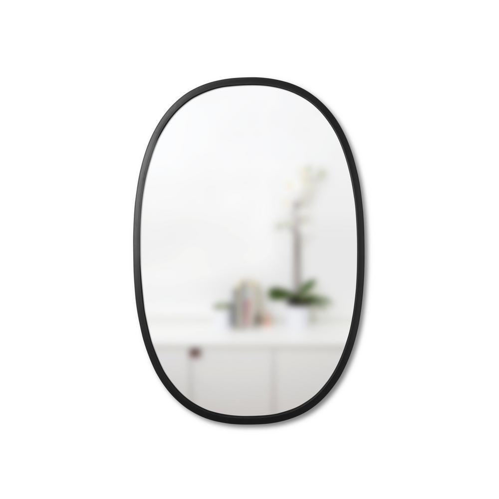 Umbra 24 In X 36 In Black Oval Hub Mirror Oval Mirror Modern