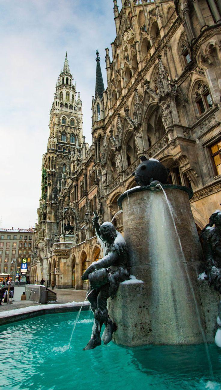 Marienplatz Munich Allemagne Reisen Deutschland Reiseideen Europa Reisen