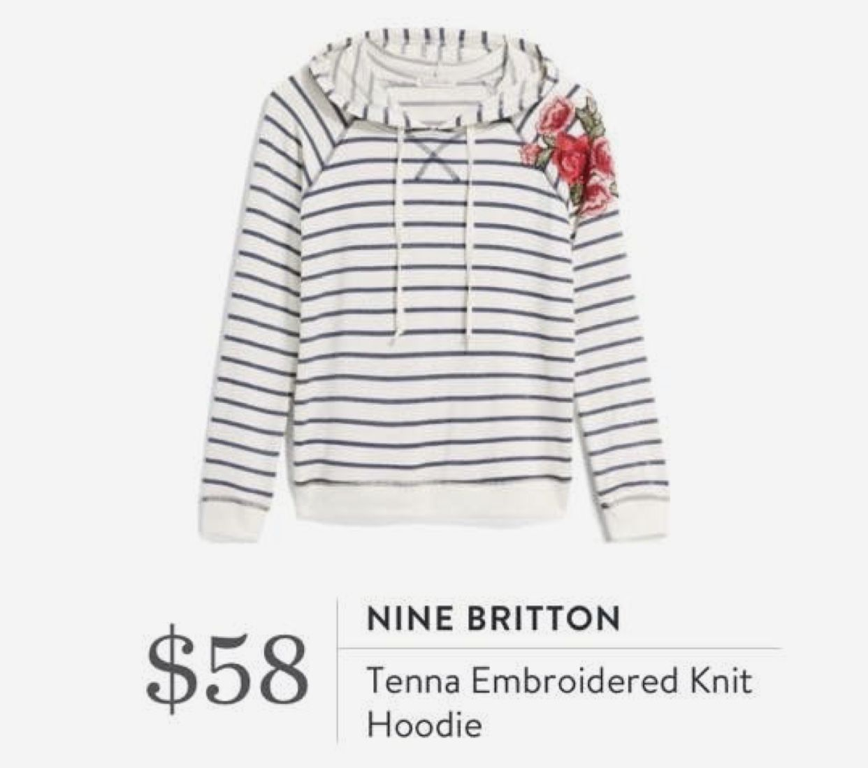 stitch fix sweatshirt nine britton tenna embroidered knit hoodie Source by Myfavehello outfit