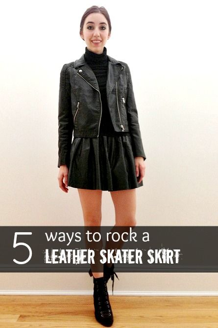 0fd400eced2a 5 Stylish Ways to Wear a Leather Skater Skirt This Season | Urban ...