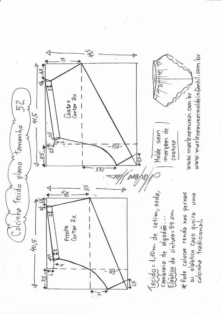 fb8c99e01 Calcinha para tecido plano