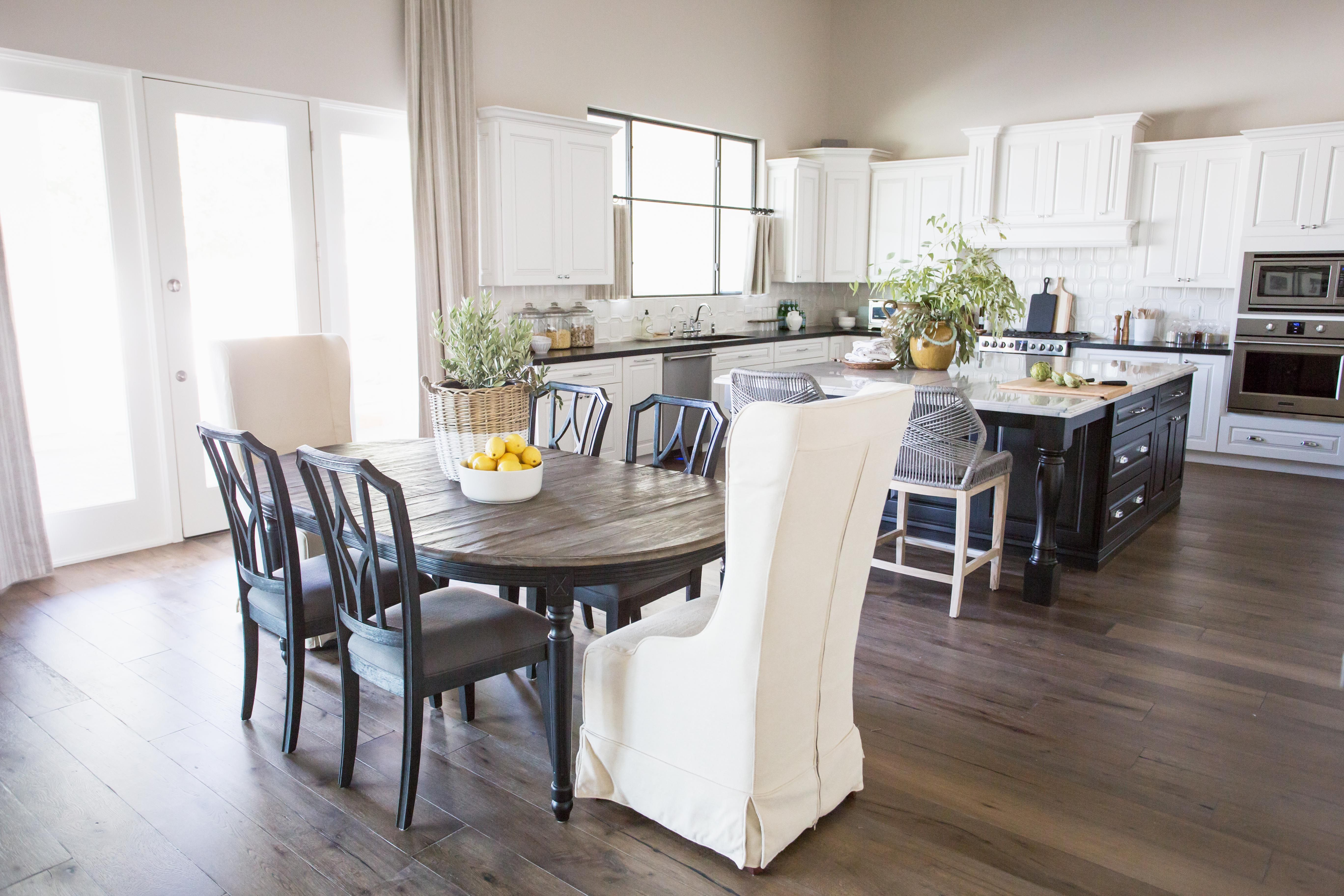 Santa Barbara Style Kitchen The Lifestyled Company Scorpio Place Project Scorpioplaceproject White C Dining Table In Kitchen Mixed Dining Chairs Dining Chairs