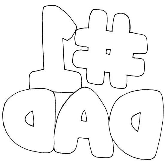 coolest number 1 dad coloring pages http coloring alifiah biz
