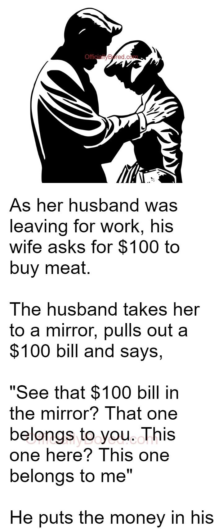 When Wife asked husband for $100 to buy Meat | OfficiallyBored