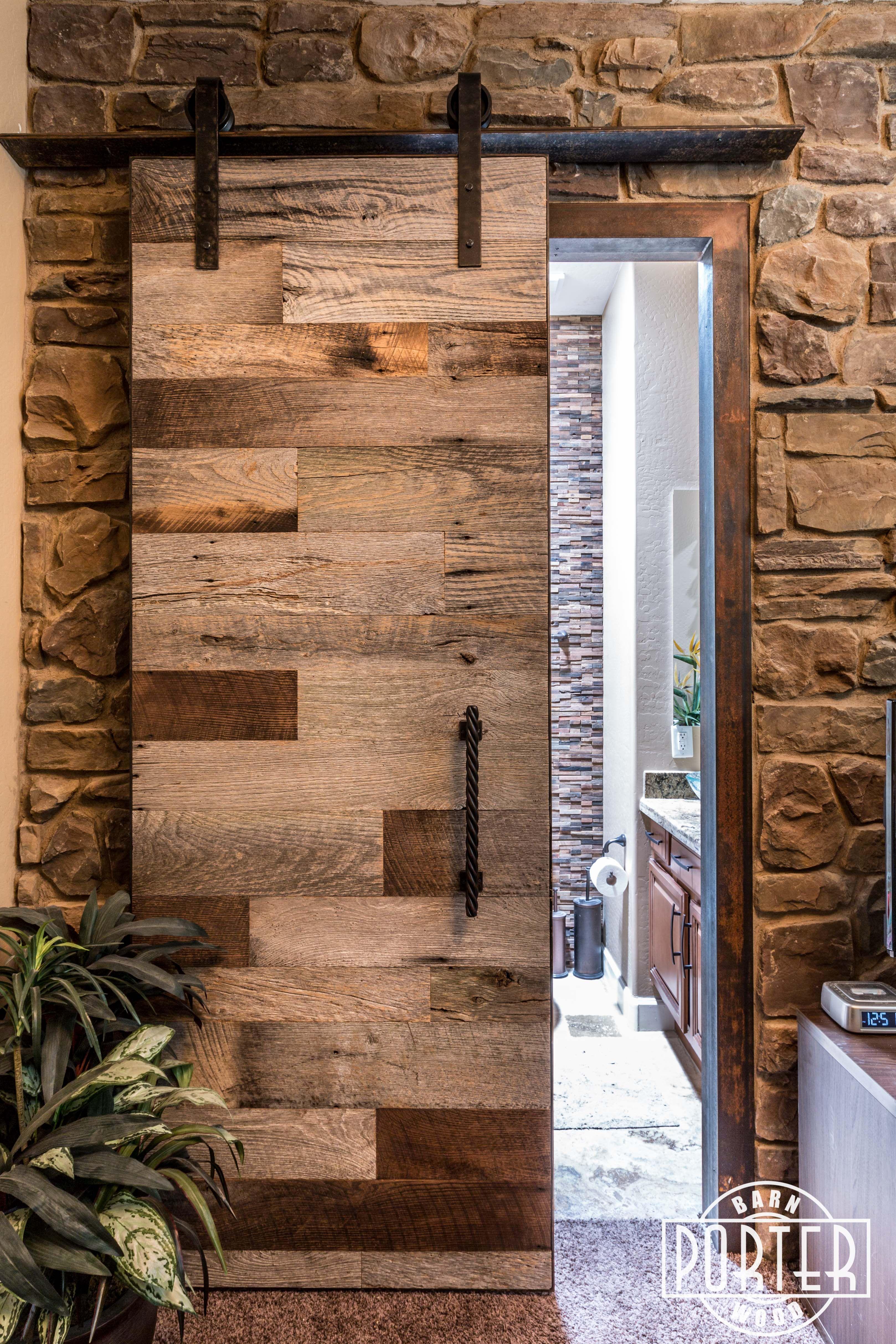 Hinged barn doors - Tobacco Barn Grey Sliding Barn Door And Matching Hinged Door That We Installed In A Customer S
