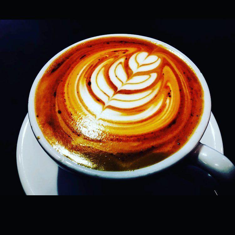 It's just what we do... #coffeeshopvibes #jubileest #jubileetakeover #smallbatchcoffee #latteart #coffeeart by smallbatchcr