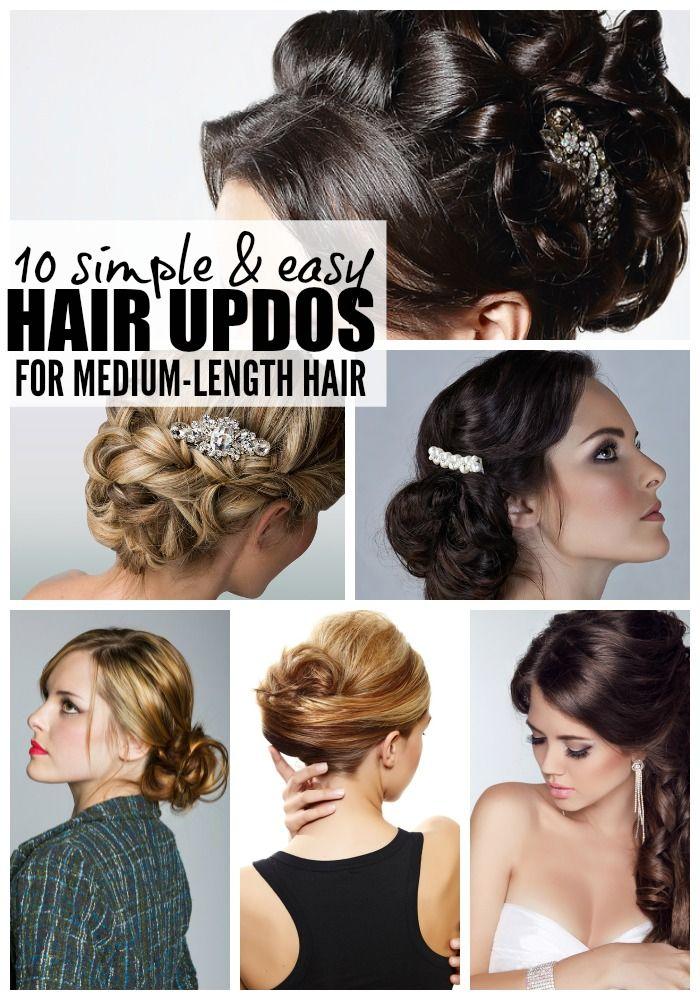 10 easy (& glamorous!) updos for medium-length hair | Casual ...