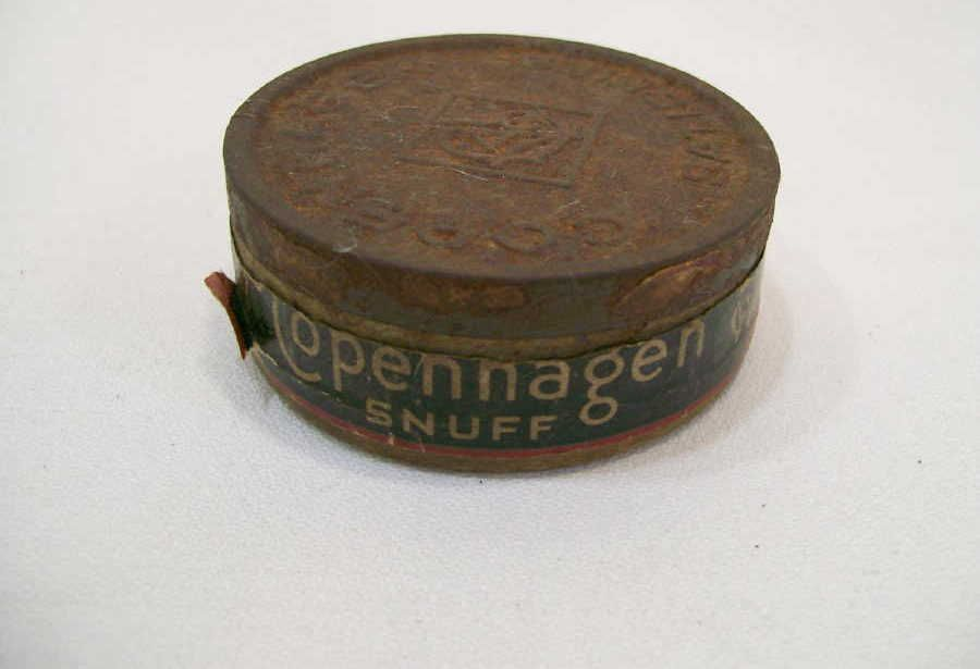 Antique Tobbaco Cans Copenhagen Snuff Round Chew Tobacco Container Tobacco Chew Men Like