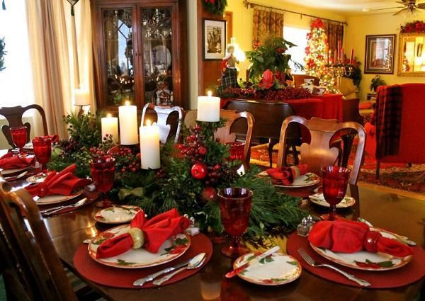 Decorating Dining Room Sets With Leather Chairs Table Setting Ideas For  Christmas Nutcracker Christmas Decorations 600x425