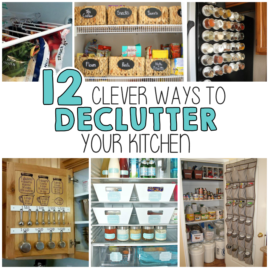 12 Clever Ways To Declutter Your Kitchen | Declutter, Organizing and ...