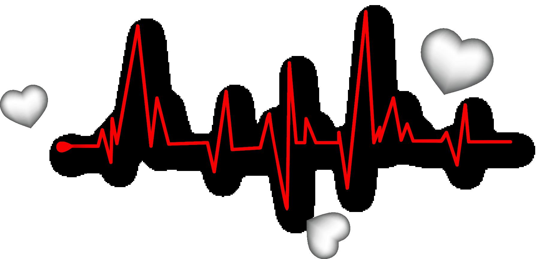 Heart Pulse Euclidean Rate Vector Decorate Line Clip Art Line Images Line Clipart
