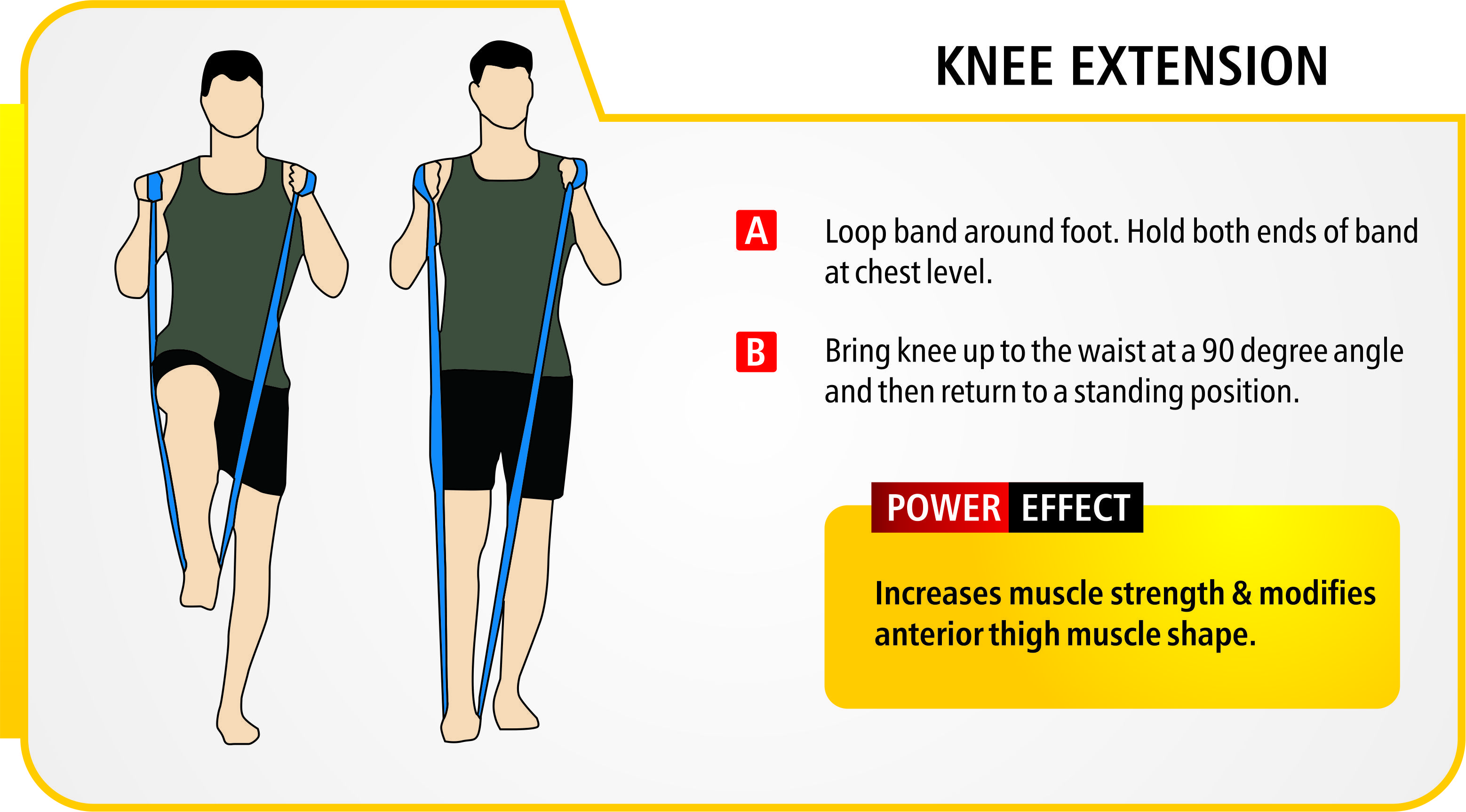 Knee Extension Exercise Resistance Bands Should Be Used Under