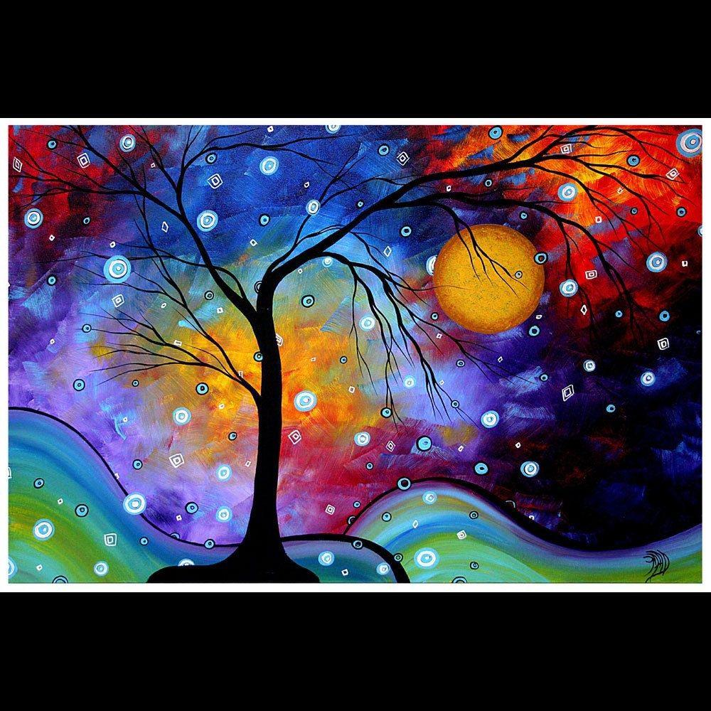 MADART PRINT Abstract Contemporary ART Modern - 20x30  Winter Sparkle. $69.00, via Etsy.