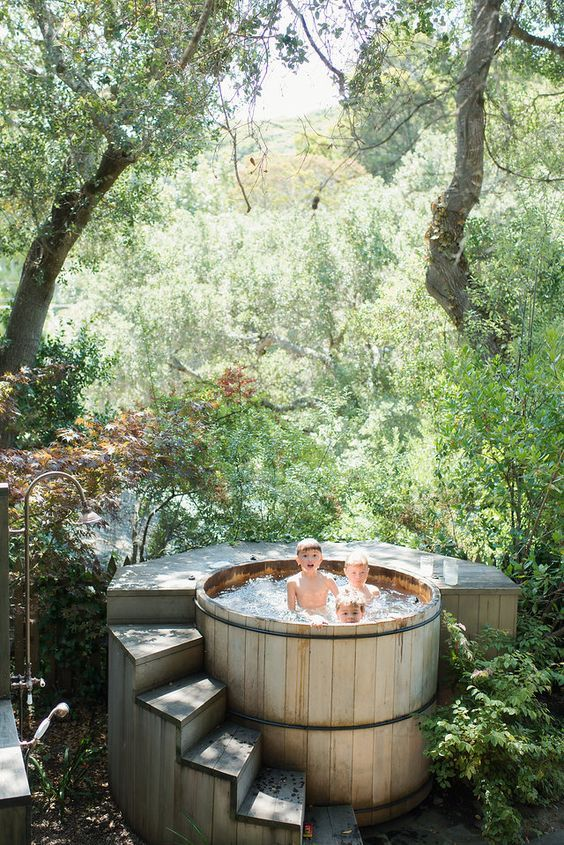 Photo of Rustic Cedar Hot Tub Ideas for Natural Atmosphere – Decorface.com