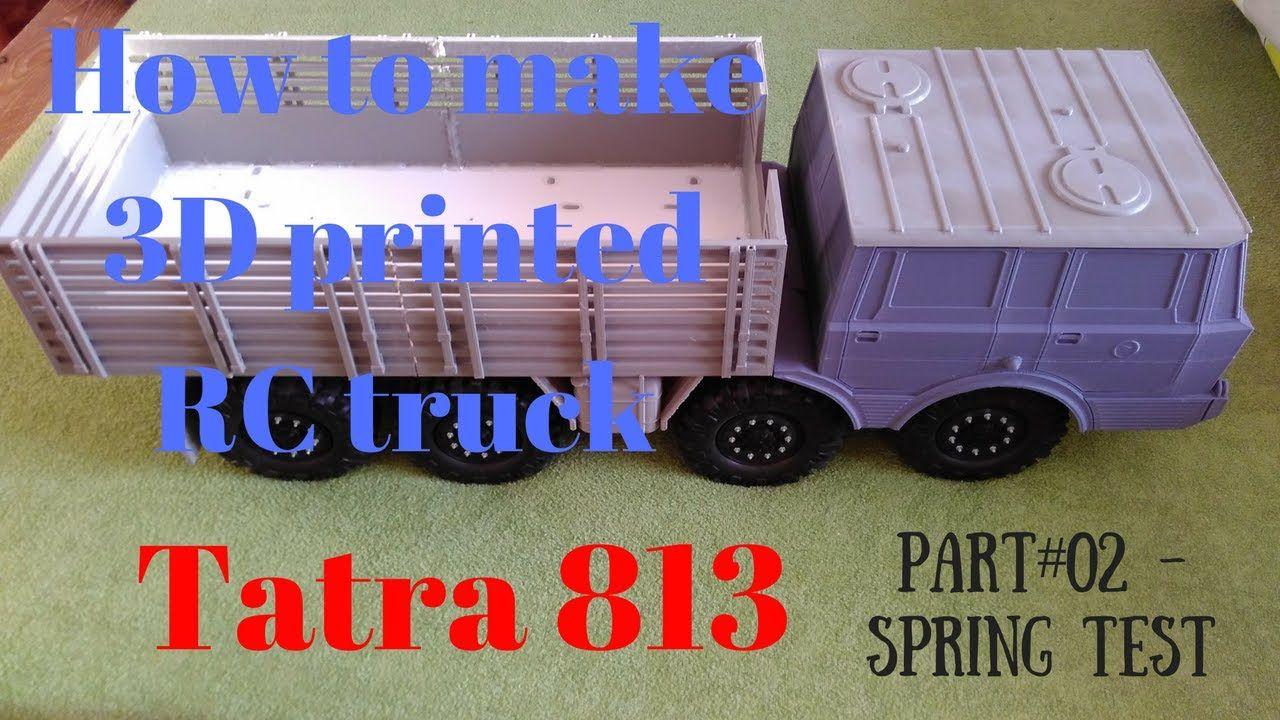 3D printing RC truck 1/10 body Tatra 813 - spring test | 3d