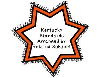 FREE- ANYONE WORKING ON PROGRAM REVIEW!!?? Kentucky Arts Standards Arranged by Related Subject