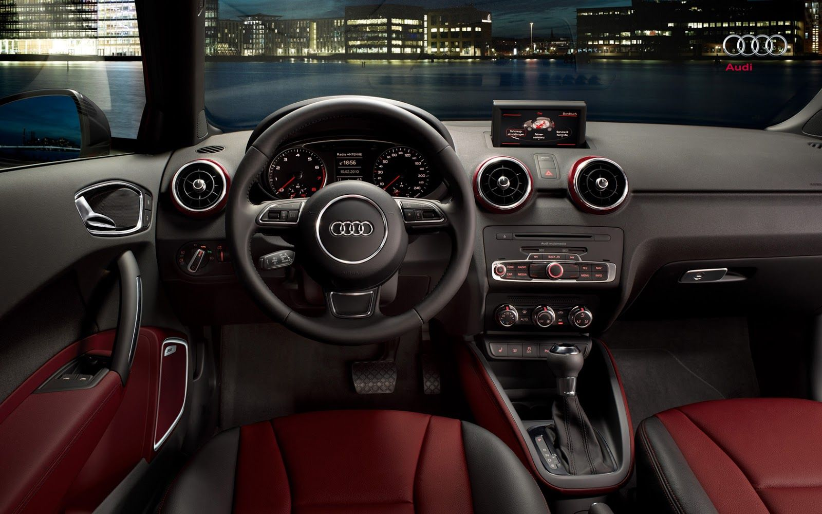 Audi A1 Luxuary Small Car Interior Cockpit Steering Dashboard