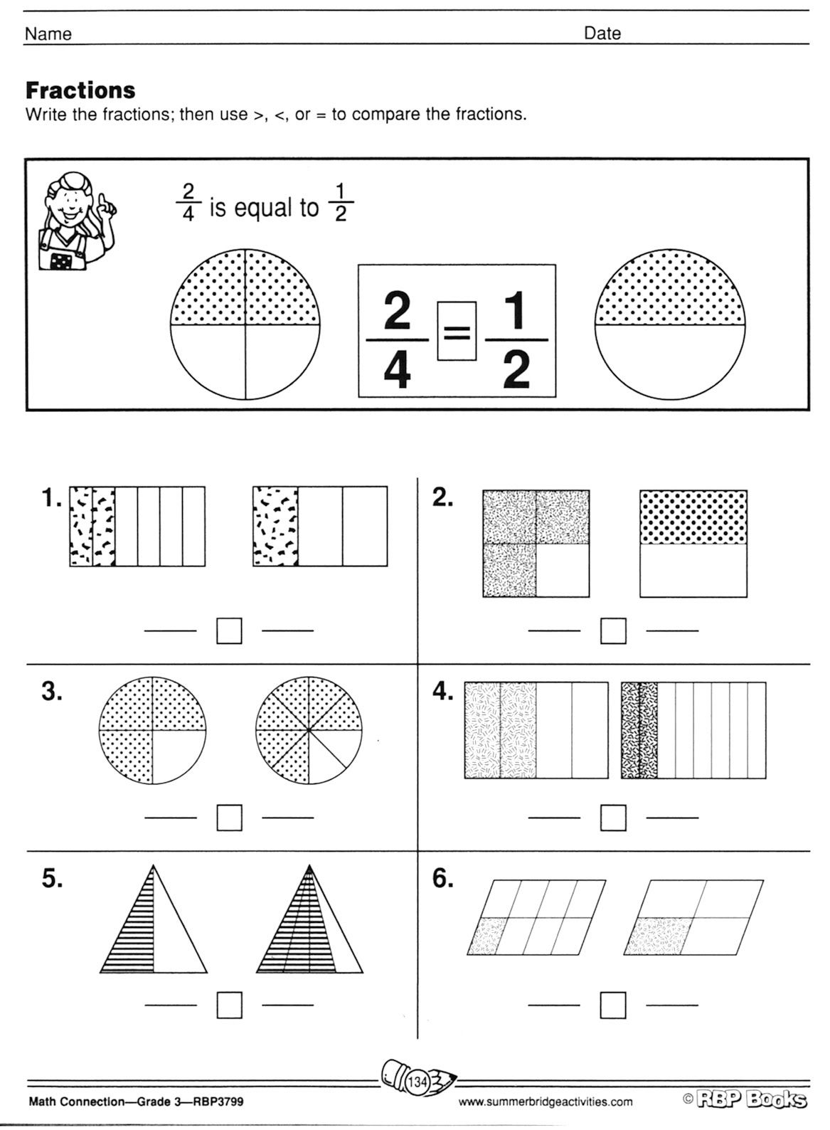 Free Printable Worksheets On Fractions For Grade 5