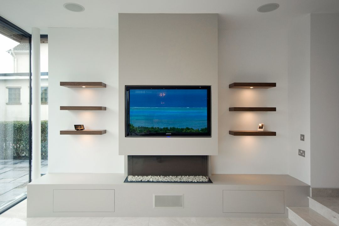 Prout tv 1080 720 fireplace pinterest for Media wall design phoenix