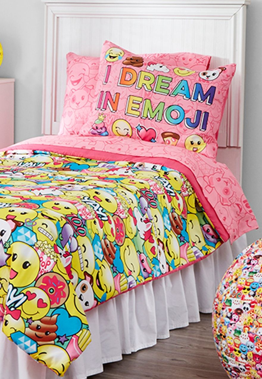 Wallpaper Paris Pink Cute Twin Size Emoji Bed In A Bag Marie Pinterest Emoji