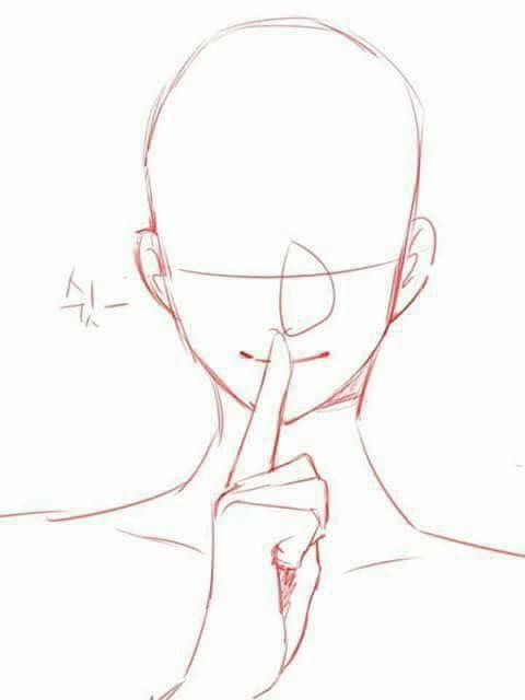 Shh Secret Hand Face Pose Anime Poses Reference Drawing Reference Poses Art Reference