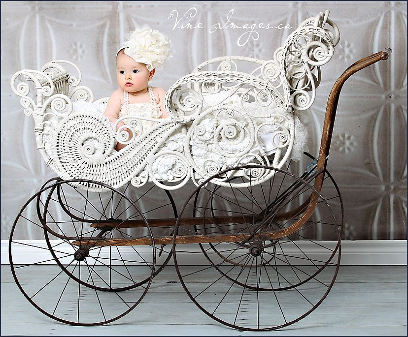 The most beautiful Victorian wicker baby carriage I have ever seen ...