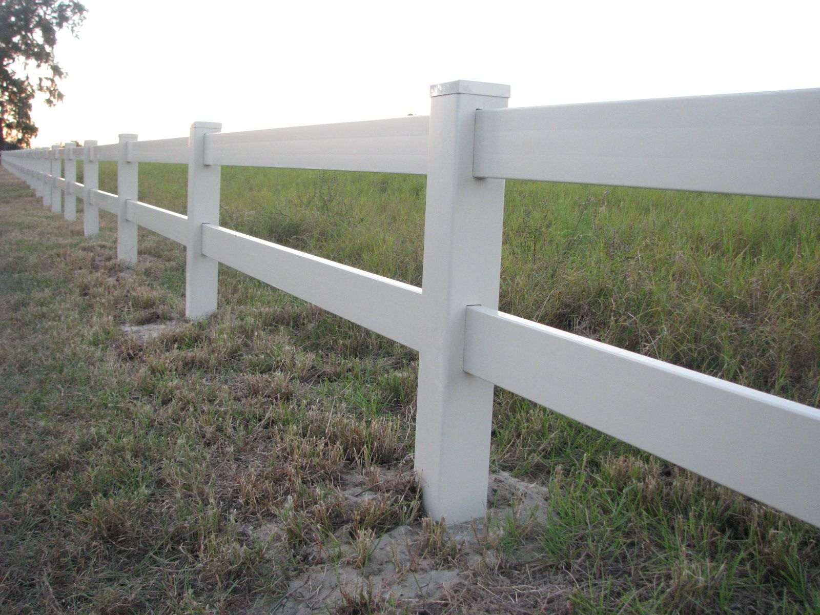 2 Rail White Vinyl Horse Fence Mossy Oak Fence Company