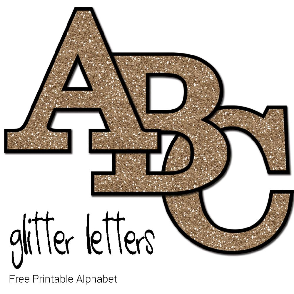 Free printable glitter letters by kate pullen ou will find these glitter letters perfect for