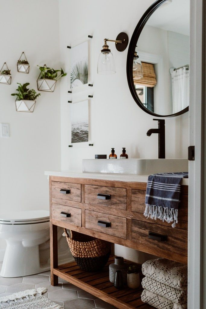 Modish Bathroom Lighting Ideas With Modern Concept: Modern Guest Bathroom Reveal: One Room Challenge, Week 6