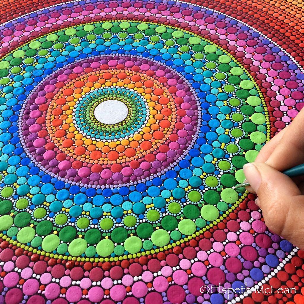 Artiste coup de coeur elspeth mclean artiste canadienne - Peinture sur galet mandala ...