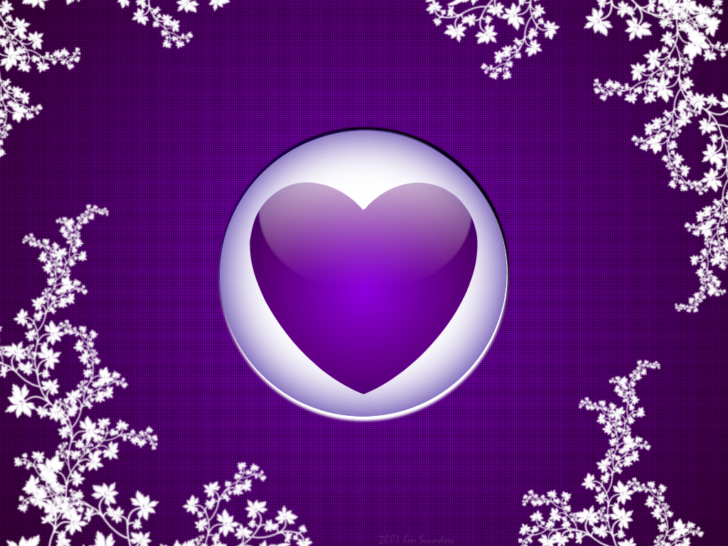 Purple Heart Passion Fondo Corazones Corazones Purpura
