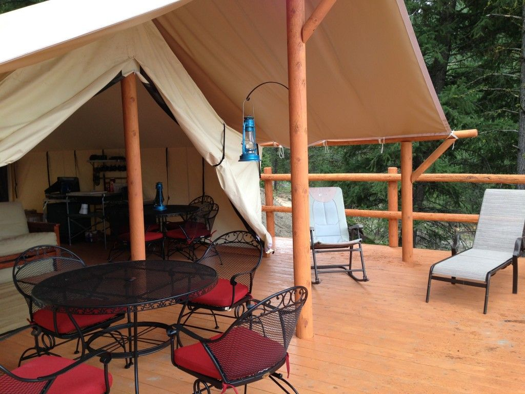 Wall Tent » Mores Creek Cabins - Wilderness Cabins for Rent