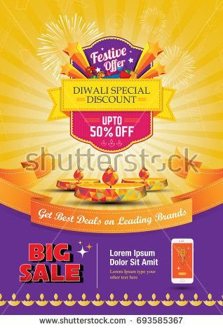 diwali festival sale poster flyer layout template a4 size flyers