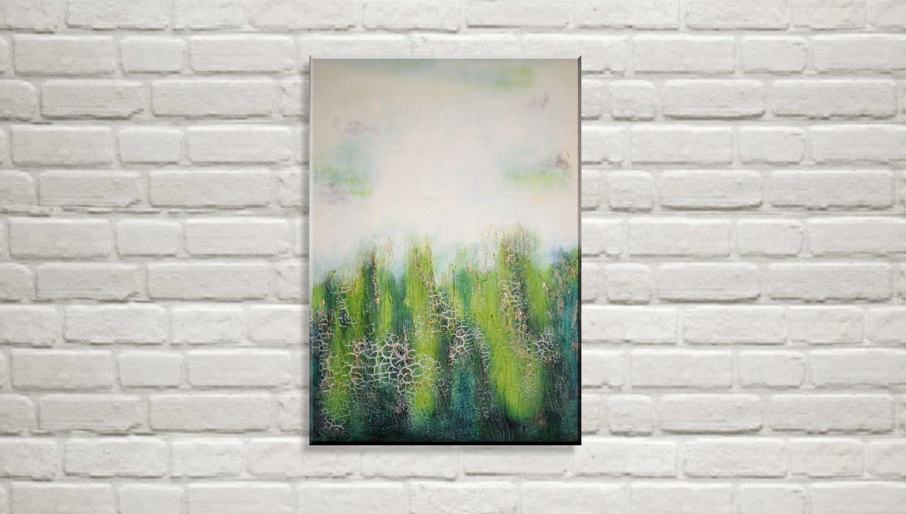 pin auf bilder abstraktes bild acryl gemälde wald abstrakt