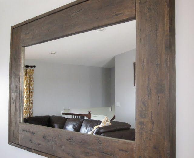 Diy Distressed Mirror Home Diy Distressed Mirror Barn Wood Mirror