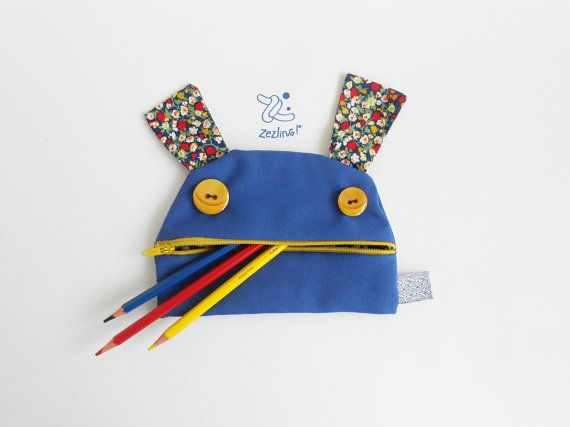 Estojo grande em forma de monstro sorridente. Bolsa impermeável à prova de água para guardar lápis, maquilhagem, verniz da unhas, brinquedos, cartões,