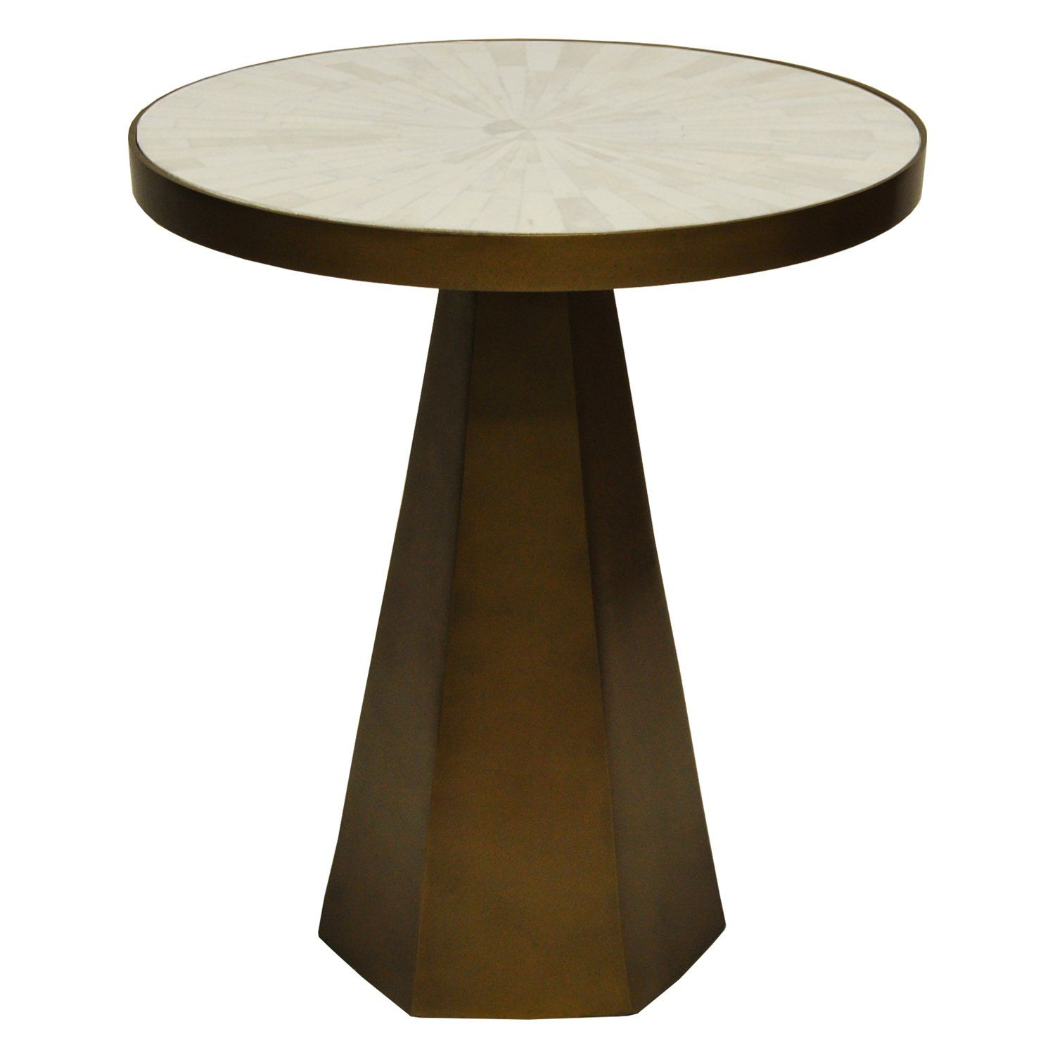 Worlds Away Woodrow Side Table Side Table Brass Side Table Table