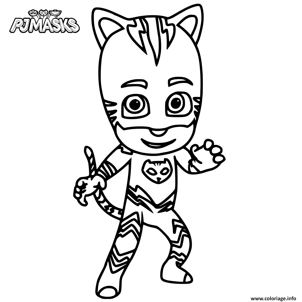 Coloriage Yoyo De Pyjamasques Dessin A Imprimer Pj Mask Party Pj