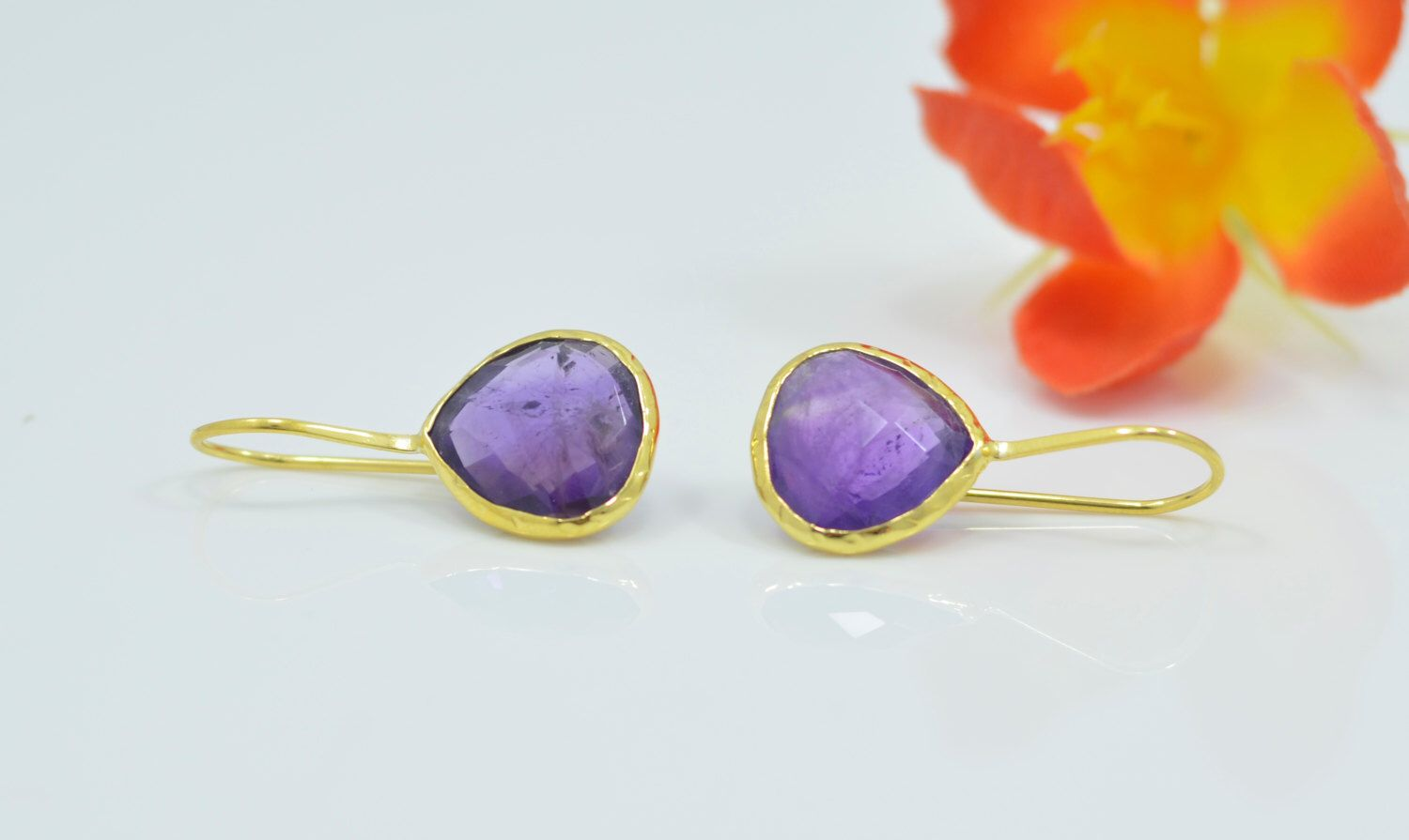 A personal favourite from my Etsy shop https://www.etsy.com/listing/292968225/amethyst-earrings-amethyst-drop-earrings