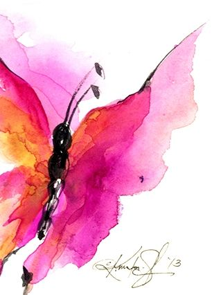 Abstract Butterfly By Kathy Morton Stanion Butterfly Watercolor