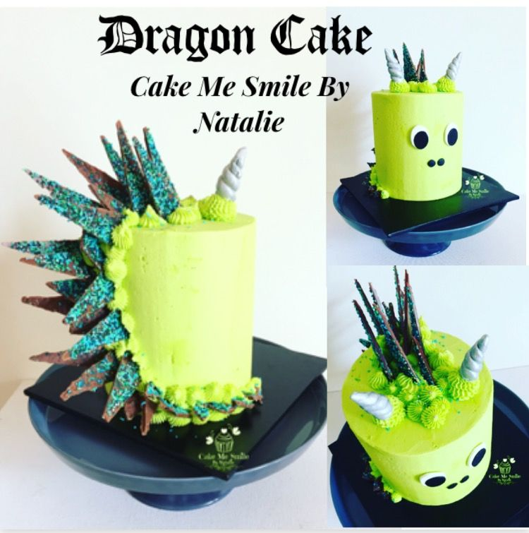 Dragon Cake in the style of a Unicorn cake from Cake Me ...
