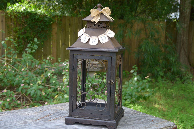 Lantern Wedding Card Holder Rustic Cards Banner