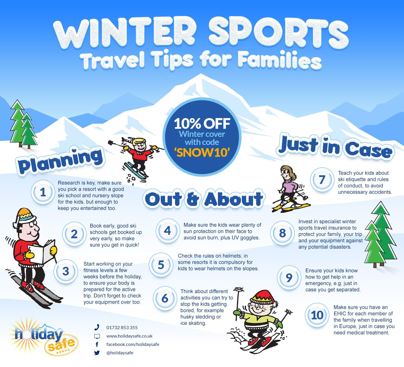 Planning a winter sports holiday with young children can